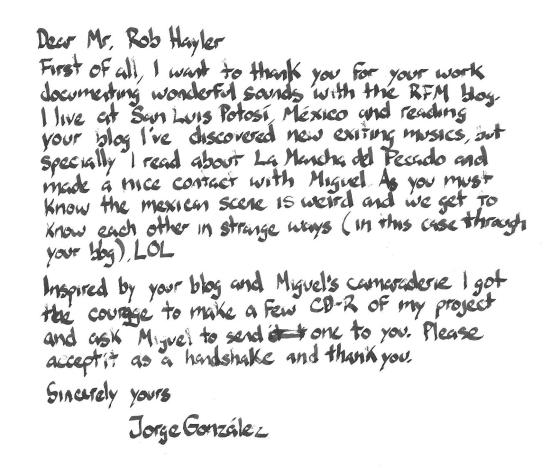 letter from jorge