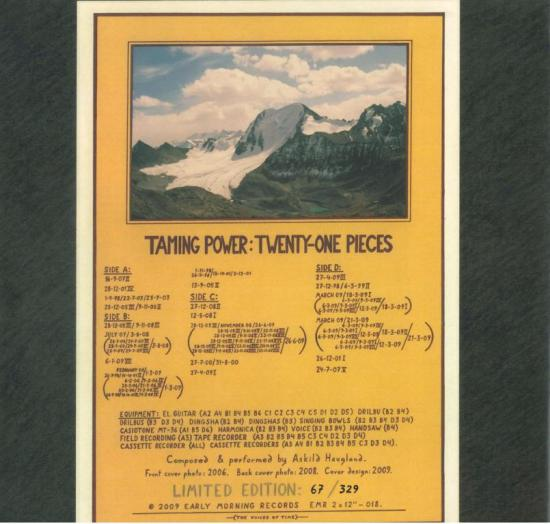 taming power - twenty-one pieces - back cover