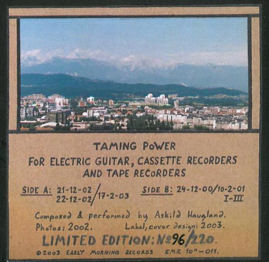 Taming Power - For Electric Guitar, Cassette Recorders and Tape Recorders back