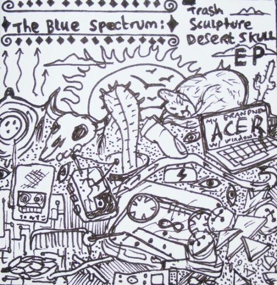 blue spectrum - desert skull